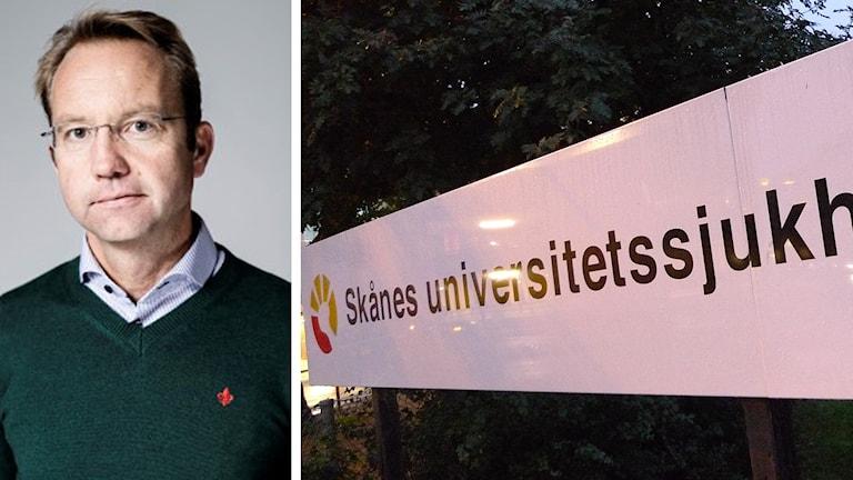 Björn Eriksson har blivit utsedd till Skånes universitetssjukvårds nya förvaltningschef. Foto: Region Skåne/ Johan Nilsson TT