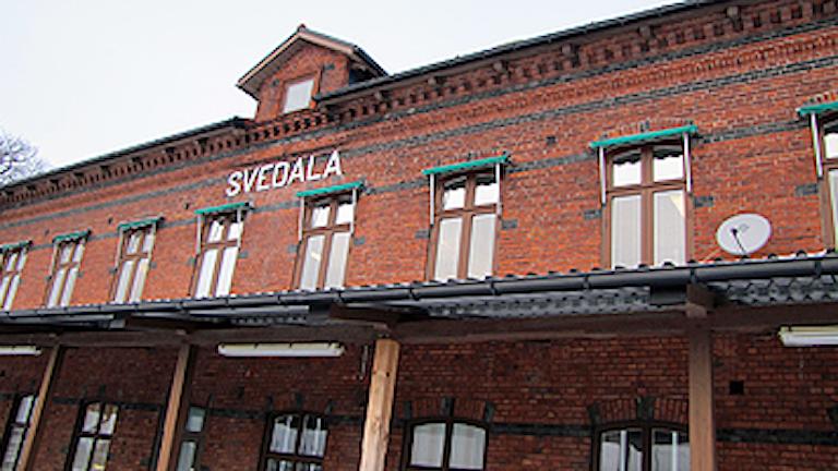 Hit flyttar polisen i Svedala. Foto: Madeleine Fritsch/SR