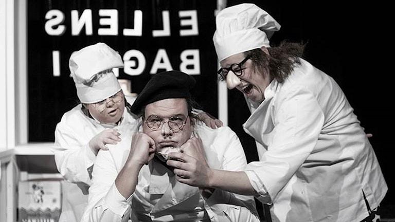 Frida Schriver, Ronny Larsson och Dennis Nilsson