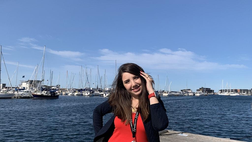 Gillade Sverige från första stund. Sara Altinawi från Syrien hoppas i framtiden kunna starta företag och se sina framtida barn växa upp här.