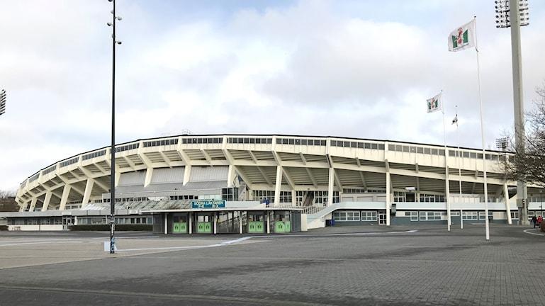När gamla stadion rivs lämnas plats till ny bebyggelse. Foto: Petra Haupt/Sveriges Radio