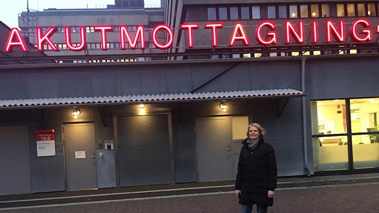 Ulrika Palm som är sektionschef på akuten i Lund.