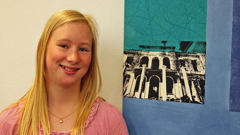 Maja Johansson från Staffanstorp vann tävlingen Finn upp. Foto: Johanna Hellström/Sveriges Radio.