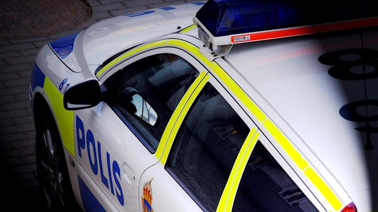 polisbil sedd snett ovanifrån