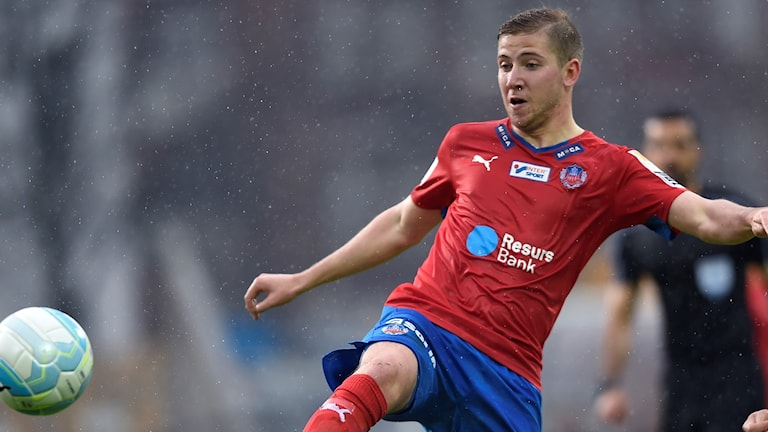 Darijan Bojanic, fotbollsspelare som är tillbaka i HIF. Foto: Björn Lindgren/TT.