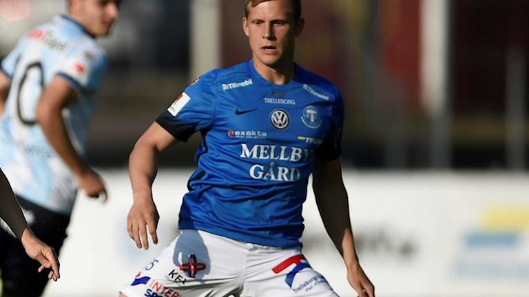 Erik Andersson, fotbollsspelare i Trelleborgs FF, inlånad från Malmö FF. Foto: Björn Lindgren/TT.