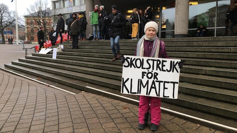 Greta Thunberg stannade till i Malmö på vägen hem från FNs klimatmöte i Polen