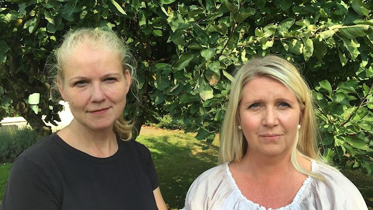 Helena Melldén och Anna Gibrand, sjuksköterskor vid Neonatal vid Helsingborgs lasarett. Foto: Nina Sköldqvist/Sveriges Radio.