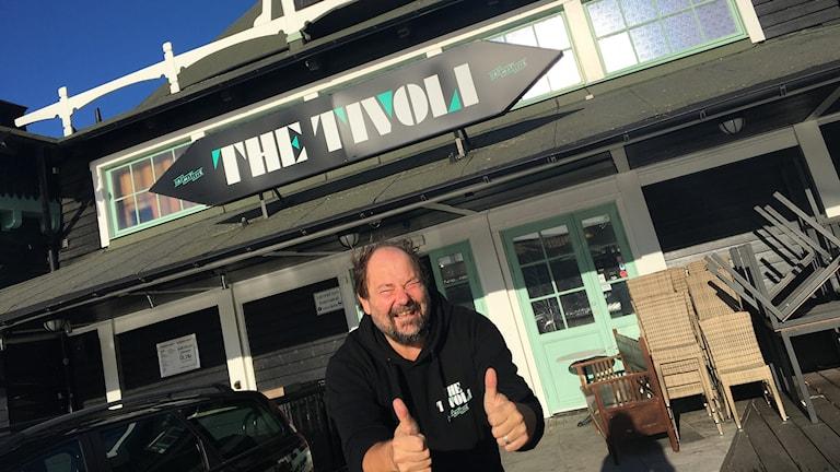 En lättad och glad Hasse Jönsson på The Tivoli.