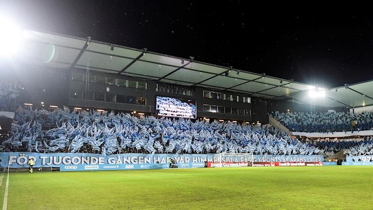 Malmö FF hyllades av hemmaplanen för det säkrade SM-guldet.