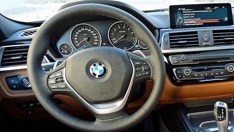 En ratt i en BMW. Foto: Anders Wiklund/TT