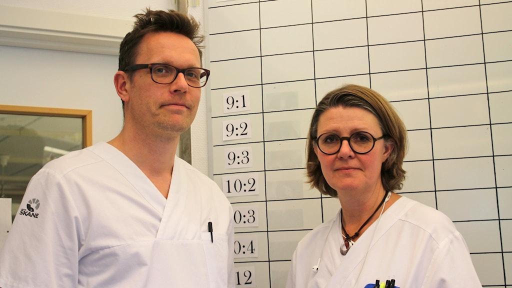 Morten Ljungdahl,verksamhetschef och Monika Söderholm, områdeschef.