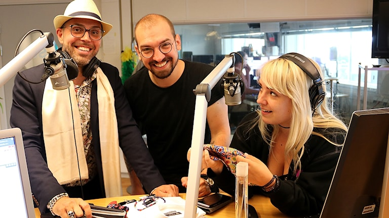 Zlatko Nedanovski delar med sig av sina tips till Victor Pandurescu och Hanna Palm på P4 Malmöhus.