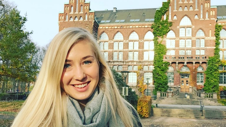 Emma Lygnerud Boberg pluggar i Lund. Foto: Privat.