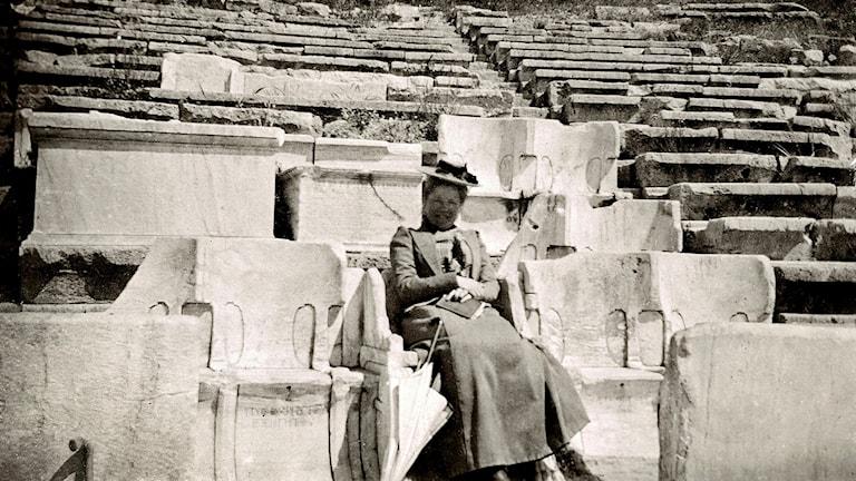 Selma Lagerlöf i Aten maj 1900.