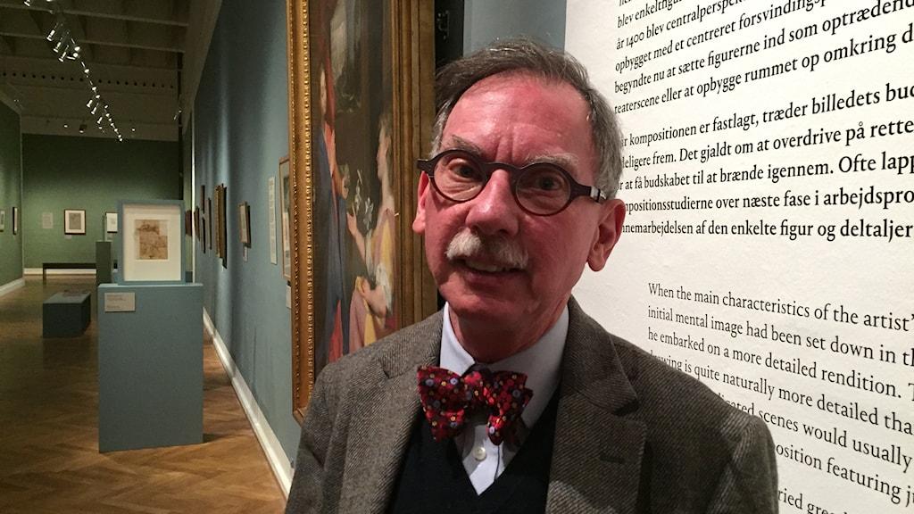 Chris Fischer, ledare, forskningscentret för tecknad konst vid Statens museum for kunst. Foto: David Richter/Sveriges Radio