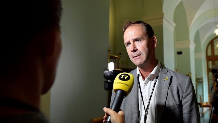 Allan Widman, Liberal ordförande från Malmö i riksdagens försvarsutskott. Foto: Stina Stjernkvist/TT.