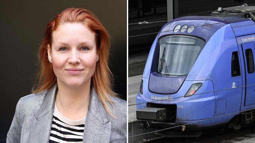 Sångerskan Jenny Silver kör numera pågatåg också. Foto: Hans Zillén/Sveriges Radio, Johan Nilsson/TT.