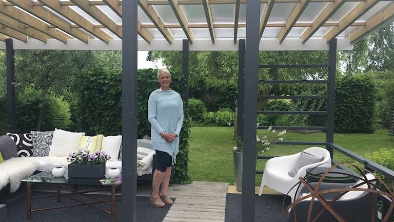 Eira Fogelberg i Helsingborg visar upp sin trädgård för andra gången i trädgårdsrundan.