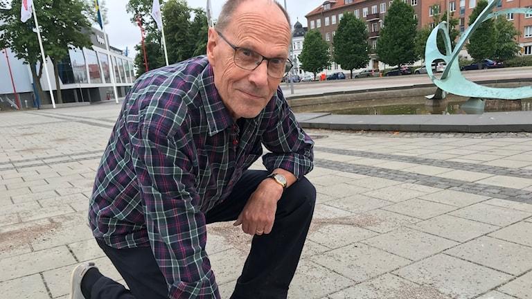 Sten Nilsson, engagerad på idrottsmuséet