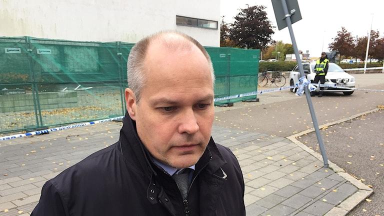 Justitieminister Morgan Johansson (S) i Helsingborg.