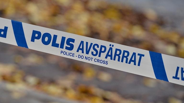 Polisavspärrning. Foto: Claudio Bresciani/TT.