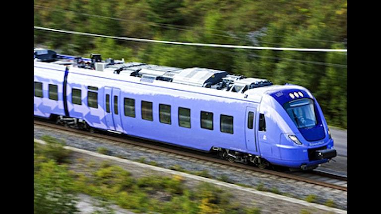 De nya Pågatågen är försenade. Provkörning av Skånetrafikens nya Pågatåg X61 i 200 km/h. Foto: Kasper Dudzik