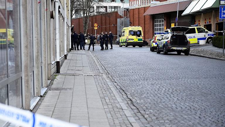 Parkeringshuset där mordet skedde i Lund.