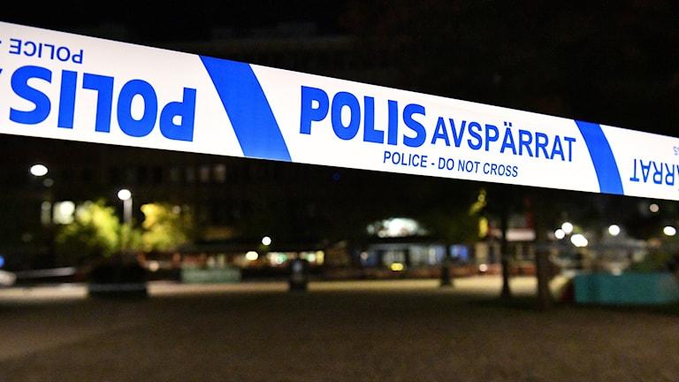 Polisavspärrning Helsingborg. Foto: Johan Nilsson/TT