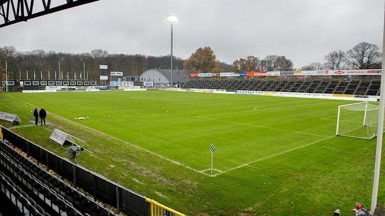 Landskrona IP där matchen kommer spelas på lördag.