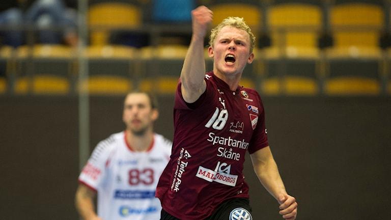 Unge Alfred Jönsson, sjumålsskytt i Lugi. Foto: Björn Lindgren/TT.