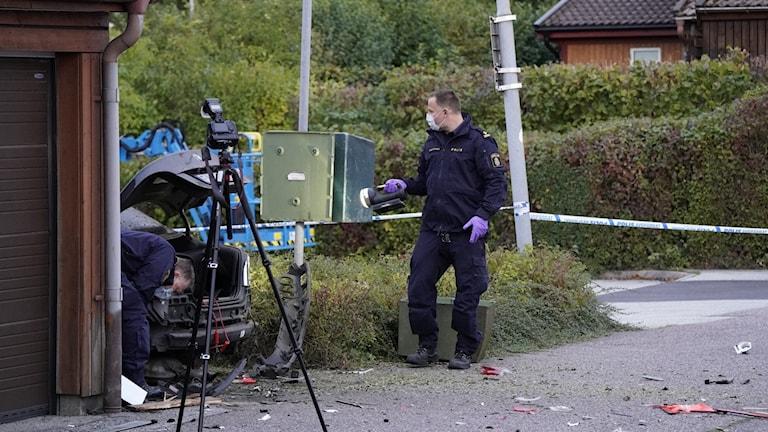 polisen undersöker vid Gunnesbo i Lund