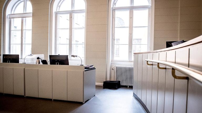 Rättssal i Köpenhamns byrett.