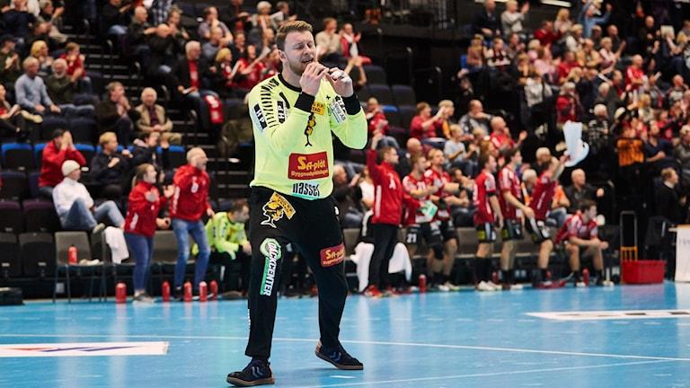 IFK Ystads målvakt Sebastian Glemhorn. Foto: Andreas Hillergren/TT.
