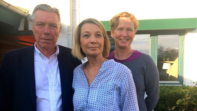 Gunnar Wannehag, Marina Wengelin och Anette Berglund på Peab.