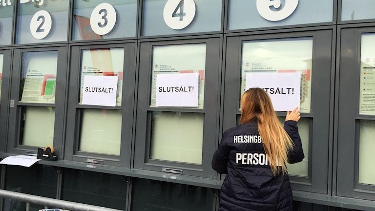 Slutsålt på Olympia inför kvalmatchen mellan Helsingborgs IF och Halmstad. Foto: Anna Hanspers/Sveriges Radio