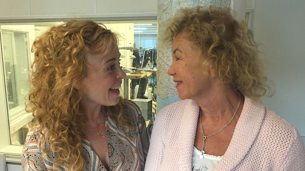 Programledare Matilda Alborn och psykologen Ingrid Tollgerdt-Andersson.