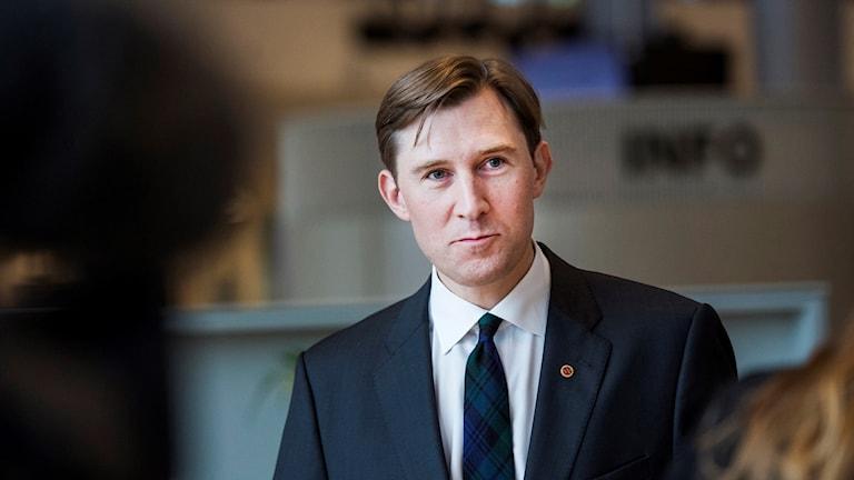 Henrik Fritzon, socialdemokrat och ordförande i regionstyrelsen. Foto: Emil Langvad/TT.