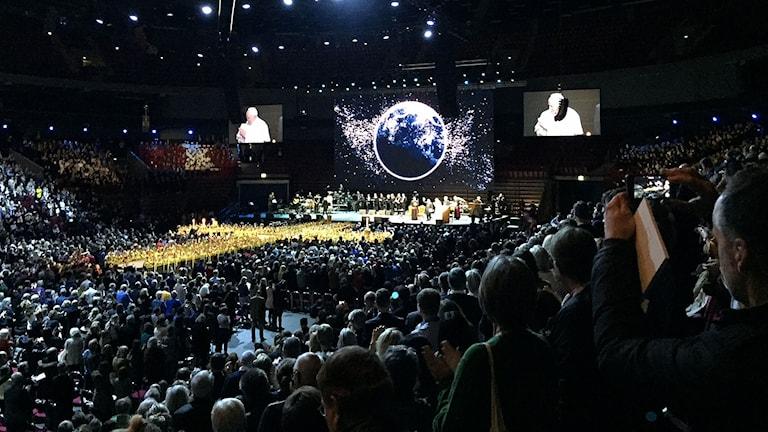 Påven i Malmö arena
