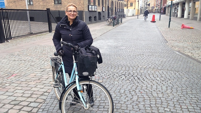 Cyklist i Malmö.