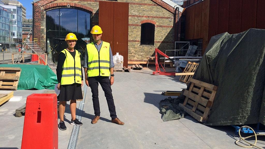 Syskonparet Nina och Martin Karyd har jobbat i fyra år med att förvandla den gamla husruinen till saluhall.