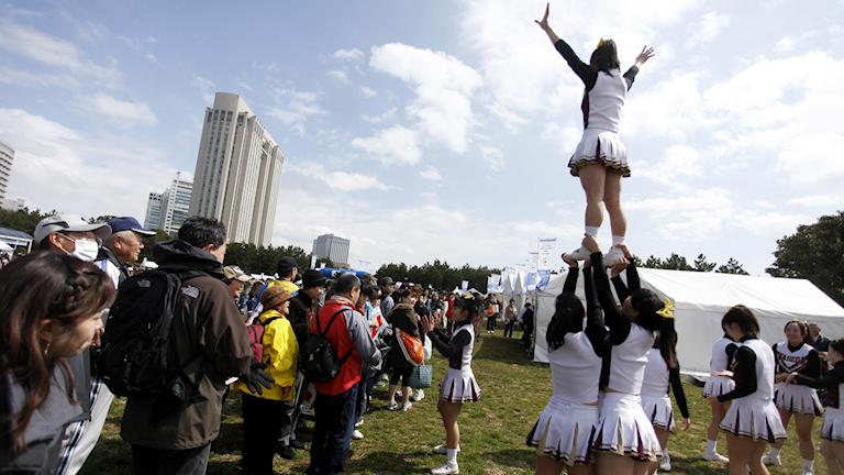 Cheerleaders.