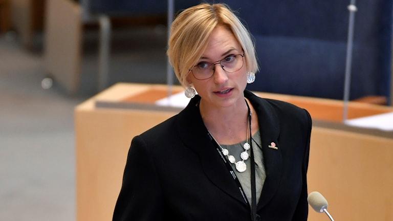 Åsa Eriksson, socialdemokratisk riksdagsledamot. Foto: Anders Wiklund/TT.