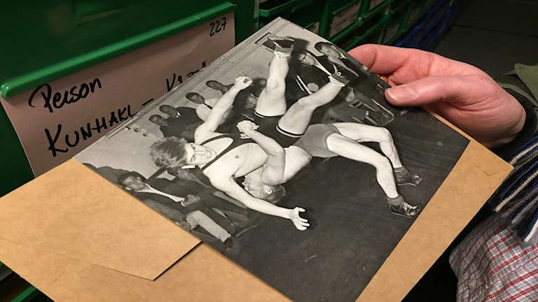 Brottning från 1963. En av miljoner bilder i pressbildsarkivet i Landskrona.