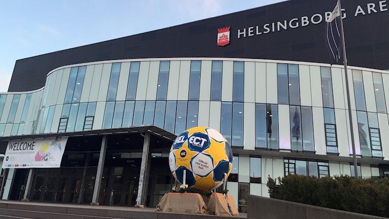 Helsingborg Arena är en av spelplatserna för damernas EM-slutspel i handboll. Foto: Nina Sköldqvist/Sveriges Radio.