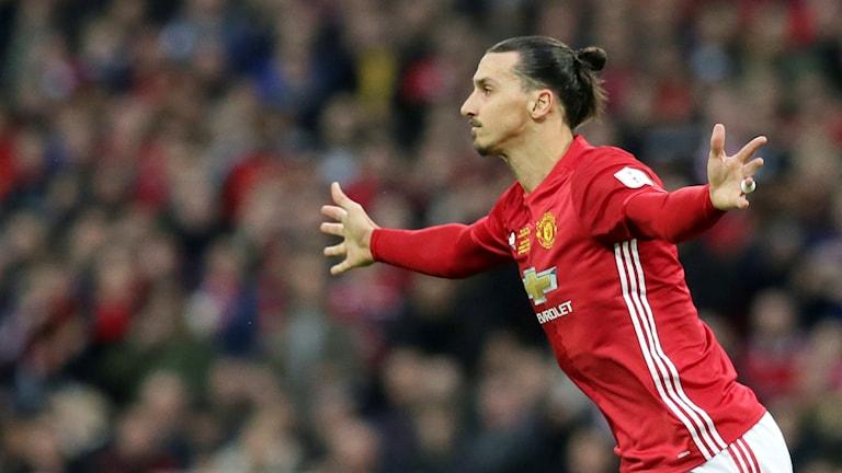 Zlatan Ibrahimovic klar för en säsong till i Manchester United. Foto: Tim Ireland/TT.