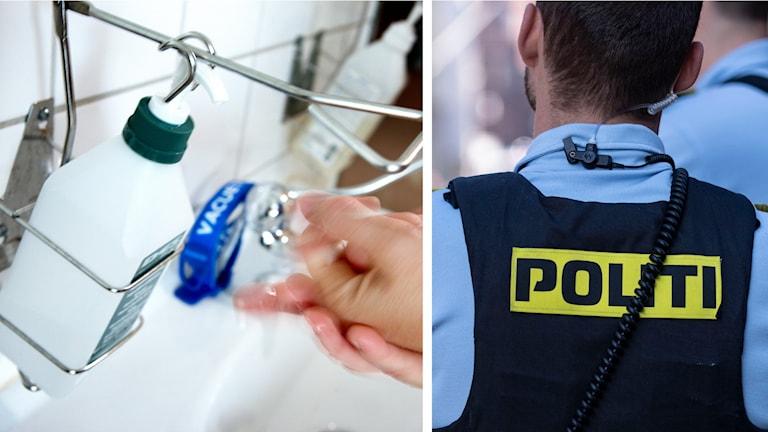 handsprit och dansk polis.