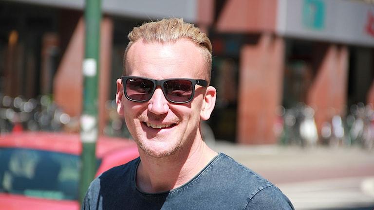 Kristian Maga i solen.