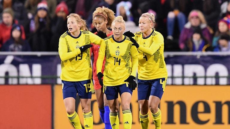 Sverige i årets sista landskamp mot USA.