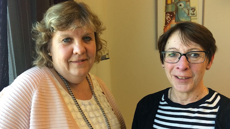 Cecilia Grefve, nationell samordnare för barn- och ungdomsvården och Petra West Stenkvist, socialchef i Sjöbo.